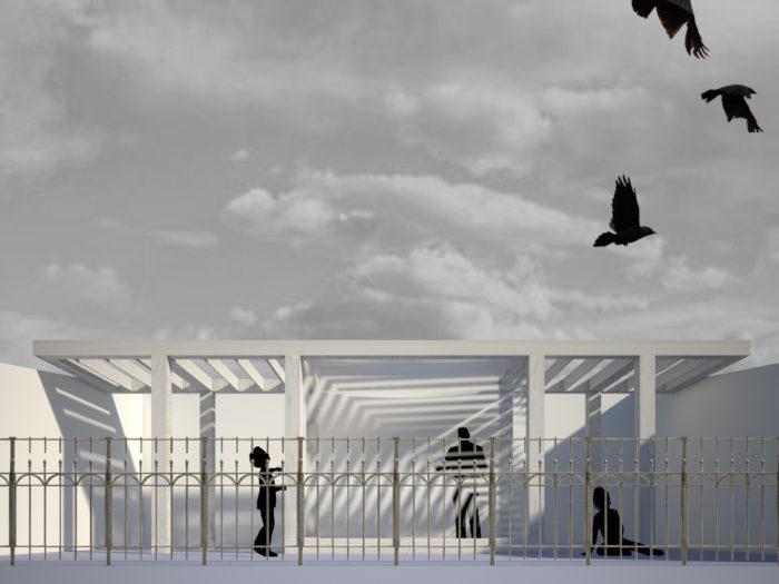 FGSA Fabrizio Guccione architetto studio di architettura interni interior copertura flat roof veranda pergola porch