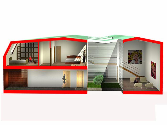 Elegant case residenze housing edificio produttivo for Case progettate da architetti