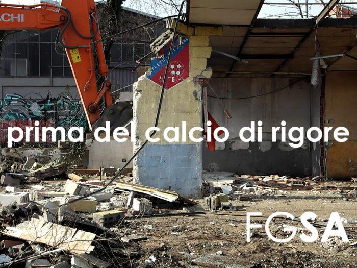 Trezzano Fabrizio Guccione FGSA studio di architettura architetto città stazione parcheggio parking boulevard demolizione edificio spogliatoi Atletic Trezzano 1975