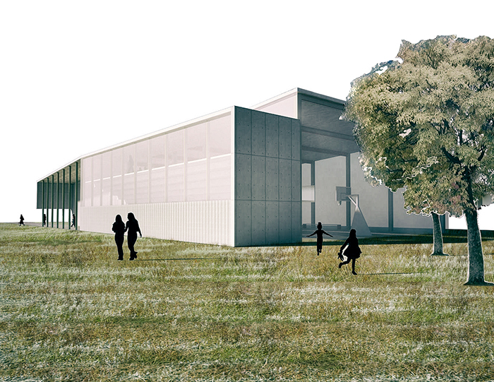 palestra gaggiano struttura metallica policarbonato sport spogliatoi budget basso costo fgsa studio di architettura architetto milano gym locker sports gaggiano low metallic polycarbonate budget cost structure FGSA architecture firm architect milano Fabrizio Guccione
