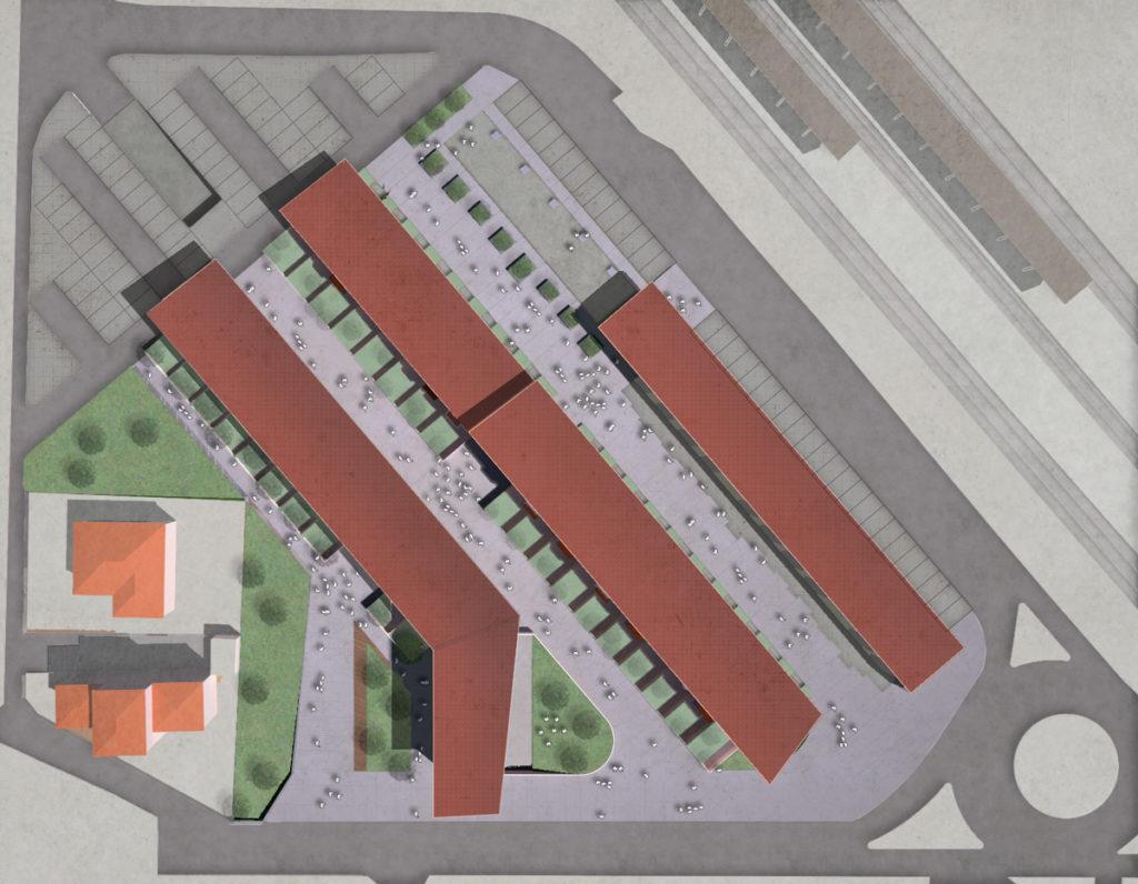 FGSA studio di architettura masterplan cesate casa dello studente studentato verde urbano progetto urbano FNM Ferrovie Stazione parcheggio nodo interscambio riqualificazione Fabrizio Guccione