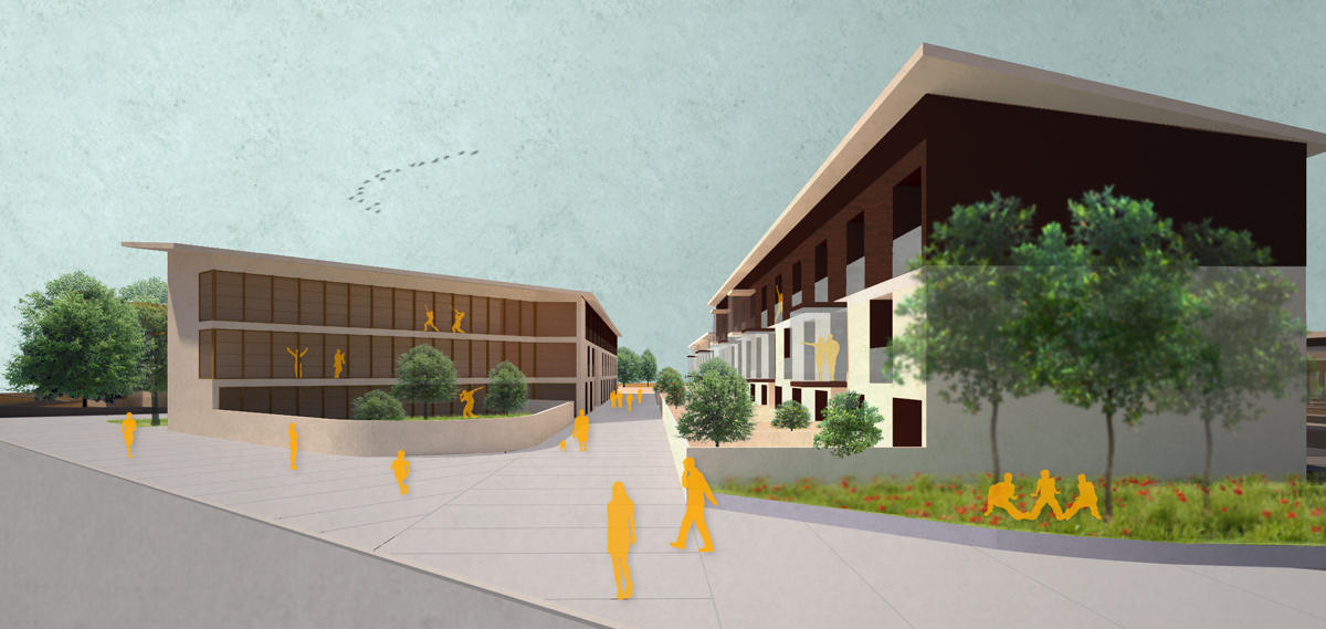 FGSA studio di architettura fabrizio guccione masterplan cesate casa dello studente studentato verde urbano progetto urbano FNM Ferrovie Stazione parcheggio nodo interscambio riqualificazione