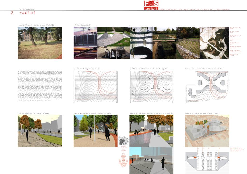 FGSA studio di architettura Fabrizio Guccione architetto Cesate POSS concorso competition landscape park parco urbano verde piazza percorsi pista ciclabile