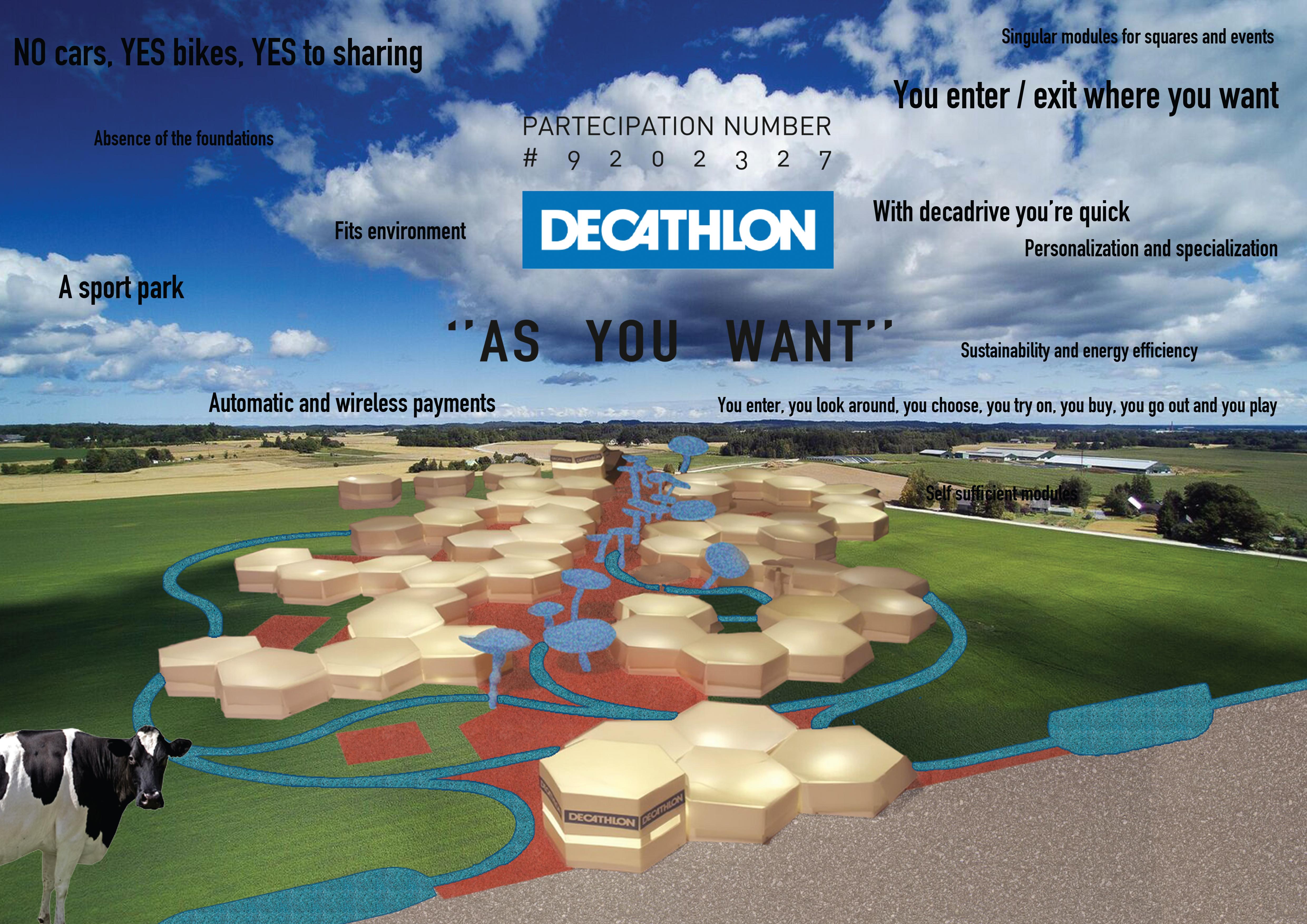 decathlon competition fgsa fabrizio guccione architetto grande distribuzione innovazione spazi commerciali parco parchi verde urbano sport