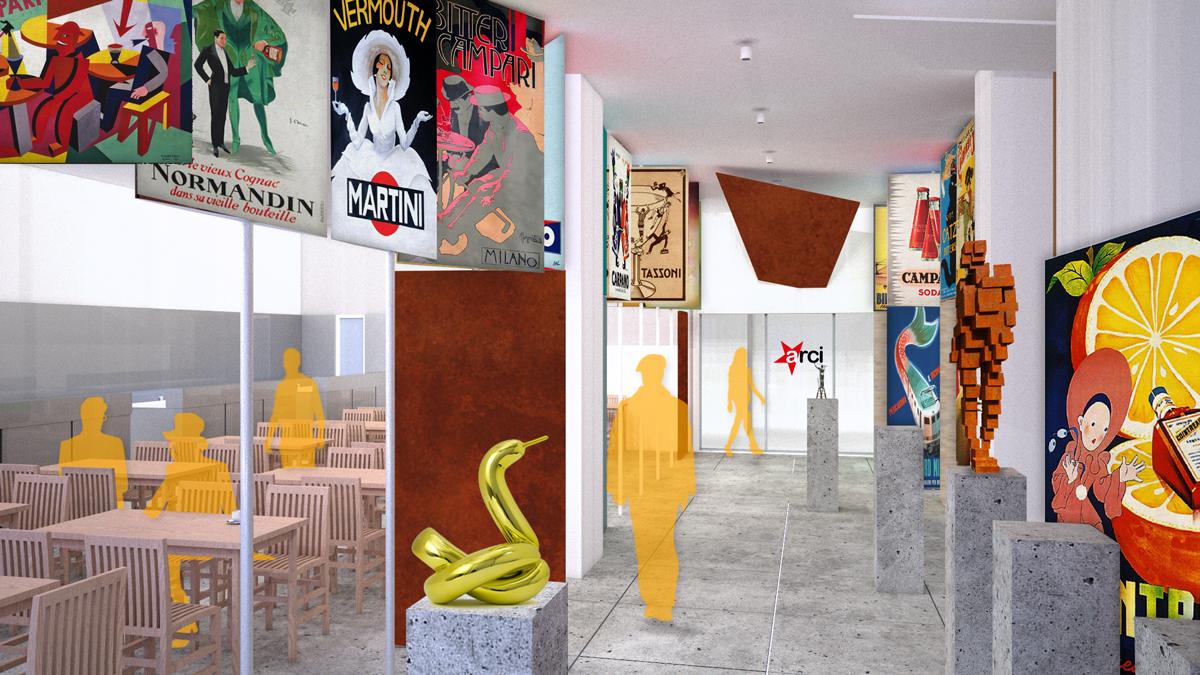 fgsa fabrizio guccione studio di architettura interni interior bar locale pubblico centro culturale vimercate